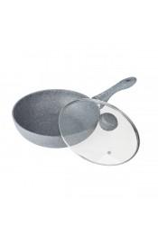 Bekker Сковорода-Вок Silver Marble 30 см