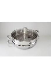 Stahlberg Сковорода-вок KROMWELL 5,2 л со вставкой для варки на пару