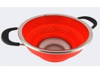 Stahlberg Дуршлаг складной 25 см красный