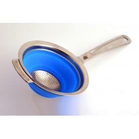 Stahlberg Дуршлаг складной с ручкой 10 см синий