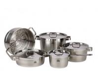 Stahlberg Набор посуды: 3 кастрюли, 1 ковш, 1 вставка для приготовления на пару, 4 крышки